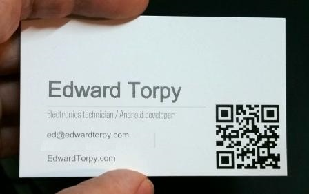 Do programmers need business cards?